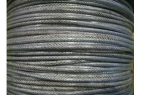 РАСПРОДАЖА Троса стального, в оплетке ПВХ (типо-размер 2/3) - неликвид!