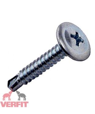Саморез с пресс-шайбой наконечник сверло для крепления листового металла толщиной до 2 мм